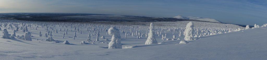 Winterlandschaft Lappland weiter offener Blick