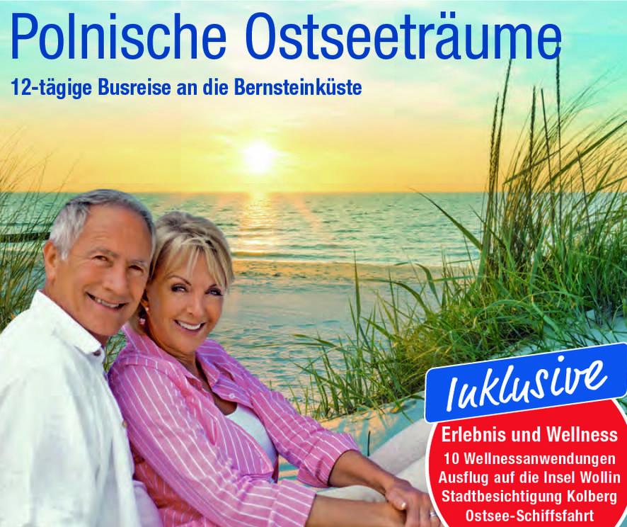 trendtours Ostseeküste Dünen Älterese Par lächelnd
