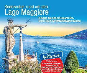 trendtours Reise Blick auf den See Lago Maggiore italien