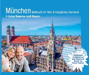 Deutschland Busreise trendtours Blick auf München Gebäude