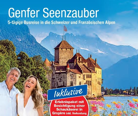 Busreise trendtours mondänes altes Schloss Chillon am Genfer See