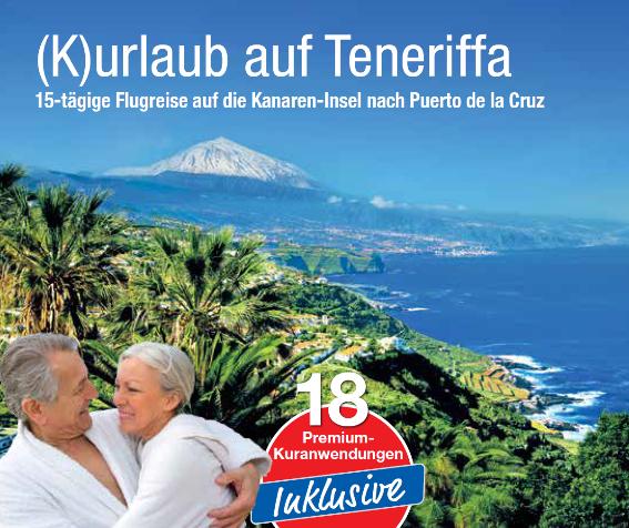 trendtours werbunggrüne Küste Teneriffa Mittelmeer Paar im Vordergrund
