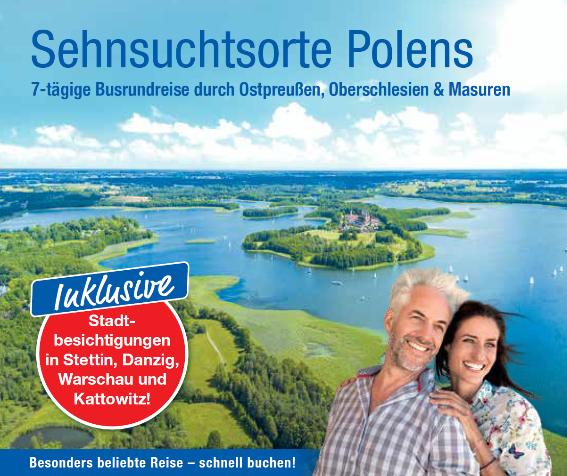 trendtours Busrundreise Grüne Landschaft Inseln und Seen in Polen