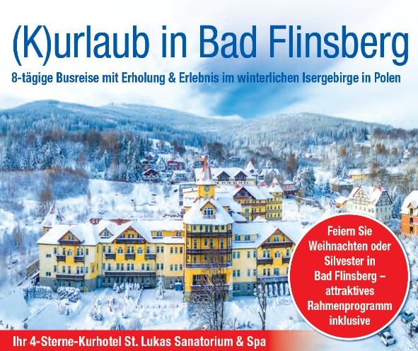 Winterbild Kurhotel St. Lukas Sanatorium Bad Flinsberg Trendtours Reise