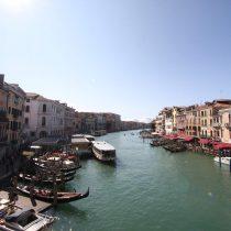 Venedig Blick von der Brücke auf den Canale grande